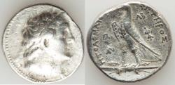 Ancient Coins - PTOLEMAIC EGYPT. Ptolemy II Philadelphus (285-246 BC). AR tetradrachm (14.01 gm). VF. Gaza