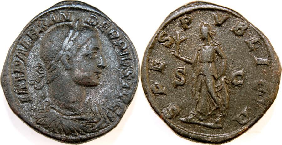 Ancient Coins - SEVERUS ALEXANDER. 222-235 AD. Æ Sestertius (32mm, 26.45 gm). Struck 232 AD.