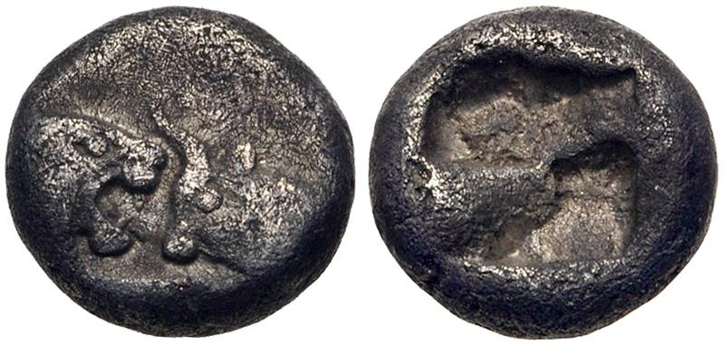 Ancient Coins - KINGS of LYDIA. Kroisos. Circa 564/53-550/39 BC. AR Twelfth Stater (7.5mm, 0.83 g). Sardes mint.