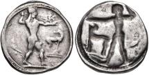 BRUTTIUM, Kaulonia. Circa 475-470 BC. AR Nomos