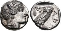 Ancient Coins - ATTICA, Athens. Circa 454-404 BC. AR Tetradrachm (22mm, 17.17 g, 7h).