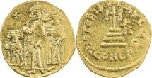 BYZANTINE EMPIRE: Heraclius, 610-641, AV solidus (20mm, 4.37g), Constantinople,