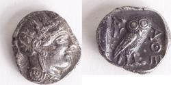 Ancient Coins - Ancient ATTICA, Athens. Circa 454-404 BC. AR Silver Tetradrachm (25mm, 17.19 grams).
