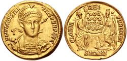 Ancient Coins - Constantius II. AD 337-361. AV Solidus (20.5mm, 4.33 g, 6h). Tricennalia issue. Antioch mint