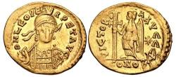 Ancient Coins - Leo I. AD 457-474. AV Solidus (21mm, 4.28 g, 5h). Constantinople mint, 4th officina.