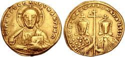 Ancient Coins - Constantine VII Porphyrogenitus, with Romanus II. 913-959. AV Histamenon Nomisma
