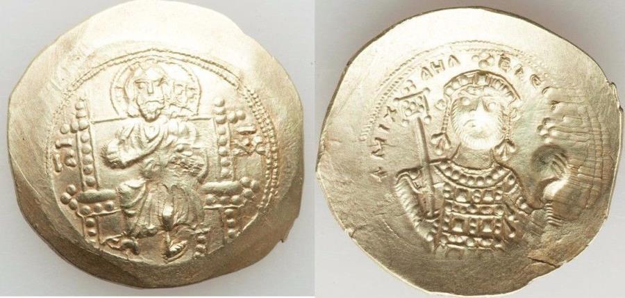 Ancient Coins - Michael VII (AD 1071-1078). AV histamenon nomisma (4.28 gm). AU,