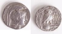 Ancient Coins - ATTICA, Athens. Circa 165-42 BC. AR Tetradrachm (29mm, 16.28 g). New Style coinage