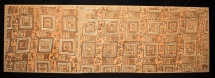Pre Columbian Chancay Textile Fragment w warriors. EX Sotheby's. c.1200 AD.