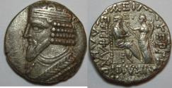 Ancient Coins - KINGS of PARTHIA. Gotarzes II. 40-51 AD. AR Tetradrachm (27mm, 13.9 gm).