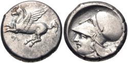 Ancient Coins - AKARNANIA, Leukas. Circa 320-280 BC. AR Stater (19mm, 8.52 g, 4h). Pegasos flying