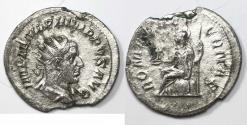 Ancient Coins - Philip I. AD 244-249. AR Antoninianus (24mm, 2.65 g). Rome mint.