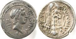Ancient Coins - The Pompeians. Q. Sicinius and C. Coponius. 49 BC. AR Denarius