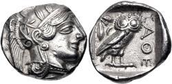 Ancient Coins - ATTICA, Athens. Circa 454-404 BC. AR Tetradrachm (26.5mm, 17.14 g, 7h).