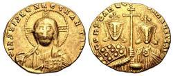 Ancient Coins - Constantine VII Porphyrogenitus, with Romanus II. 913-959. AV Solidus (18.5mm, 4.36 g, 6h).