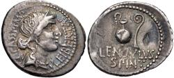 Ancient Coins - The Republicans. C. Cassius Longinus. Spring 42 BC. AR Denarius (20mm, 3.61 g, 6h). Military mint