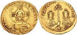 Ancient Coins - Basil II Bulgaroktonos, with Constantine VIII. 976-1025. AV Histamenon Nomisma
