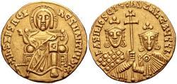 Ancient Coins - Basil I the Macedonian. 867-886. AV Solidus (20mm, 4.43 g, 6h). Christ Pantokrator