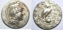 Ancient Coins - ATTICA, Athens. Circa 165-42 BC. AR Tetradrachm (34mm, 16.8 gm). New Style coinage.