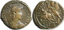 Ancient Coins - Constantius II, AE Centenionalis, March 15, 351-November 6, 355, First Group, Alexandria, Officina 4