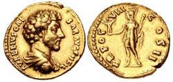 Ancient Coins - Marcus Aurelius. As Caesar, AD 139-161. AV Aureus (20mm, 7.14 g, 6h). Rome mint.