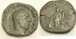 Ancient Coins - Philip I. AD 244-249. Æ Sestertius (28mm, 16.12 g). Rome mint