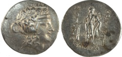 Ancient Coins - ISLANDS off THRACE, Thasos. Circa 168/7-148 BC. AR Tetradrachm