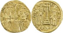 Ancient Coins - BYZANTINE EMPIRE: Constans II, 641-668, AV solidus (20mm, 4.22g), Constantinople,