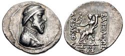 Ancient Coins - KINGS of PARTHIA. Artabanos III. 126-122 BC. AR Tetradrachm (34mm, 16.08 g, 12h).