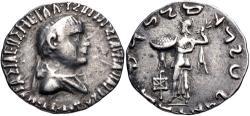 Ancient Coins - BAKTRIA, Indo-Greek Kingdom. Apollodotos II Soter Philopator Megas. Circa 80-65 BC. AR Tetradrachm