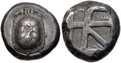 Ancient Coins - ISLANDS off ATTICA, Aegina. Circa 456/45-431 BC. AR Stater (18mm, 12.17 g, 7h).