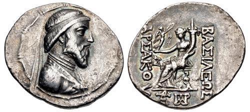 Ancient Coins - KINGS of PARTHIA. Artabanos III. 126-122 BC. AR Tetradrachm (34mm, 16.08 g, 12h).