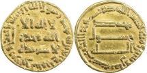 Ancient Coins - ABBASID: al-Mansur, 754-775, AV dinar (18mm, 4.15g), NM, AH138, A-212, VF