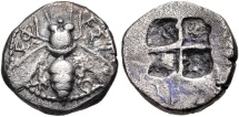 IONIA, Ephesos. Circa 500-420 BC. AR Drachm