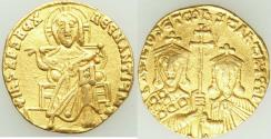 Ancient Coins - Basil I the Macedonian (AD 867-886), with Constantine. AV solidus (19mm, 4.35 gm, 6h).