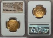 Ancient Coins - EMPIRE OF NICAEA. John III Ducas-Vatatzes (AD 1221/2-1254). AV hyperpyron