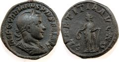 Ancient Coins - Gordian III. AD 238-244. Æ Sestertius (31mm, 19.69 gm). Rome mint.