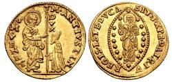 Ancient Coins - ITALY, Venezia (Venice). Marcantonio Giustinian. 1684-1688. AV Zecchino (22mm, 3.48 g, 11h).