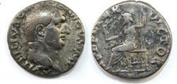 Ancient Coins - VITELLIUS. 69 AD. AR Denarius (3.10 gm). A VITELLIVS GERMAN IMP TR P,