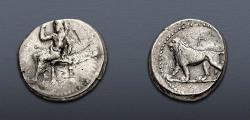 Ancient Coins - PERSIA, Alexandrine Empire. temp. Stamenes – Seleukos. Satraps of Babylon, circa 328-311 BC. AR Stater