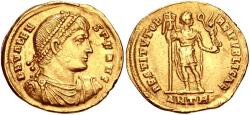 Ancient Coins - Valens. AD 364-378. AV Solidus (21.5mm, 4.52 g, 6h). Antioch mint, 8th officina. Struck AD 367.