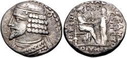 Ancient Coins - KINGS of PARTHIA. Vardanes I. Circa AD 38-46. BI Tetradrachm (26mm, 13.79 g, 12h).