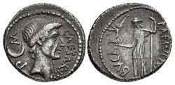 Ancient Coins - The Caesarians. Julius Caesar. January-February 44 BC. AR Denarius (18mm, 3.63 g, 11h). Lifetime issue.