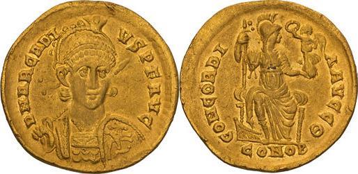Ancient Coins - Arcadius. 383-408 AD. Solidus, 4.25gg. (6h). Constantinople, c. 397-402 AD.