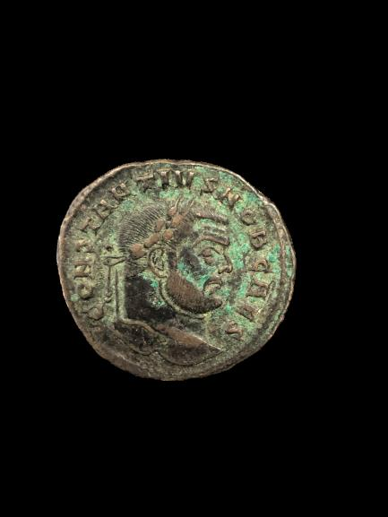 Ancient Coins - Ancient Roman Bronze Coin Of Emperor CONSTANTIUS I, as Caesar. 297-298 AD Æ Follis (27mm, 10.65 gm). Carthago (Carthage) mint. Struck circa 297-298 AD.