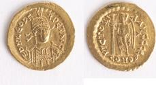 Ancient Coins - Leo I. AD 457-474. AV Solidus (21mm, 4.46 g). Constantinople mint, 5th officina.