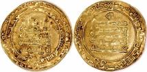World Coins - Abbasids Al-Muqtadir A Nidal Dawlah (AH 295-320) AV Dinar