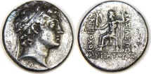 SELEUKID KINGS of SYRIA. Antiochos V Eupator. 164-162 BC. AR Tetradrachm