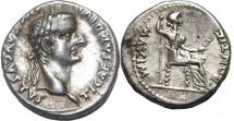 TIBERIUS. 14-37 AD. AR Denarius (3.58 gm, 18 mm). Lugdunum mint.
