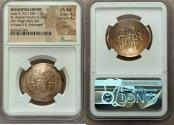 Ancient Coins - Isaac II Angelus, first reign (AD 1185-1195). EL aspron trachy (28mm, 3.23 gm, 6h). NGC